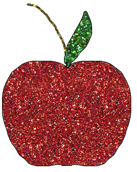 GlitteryAppleClipartBacktoSchoolFreebie